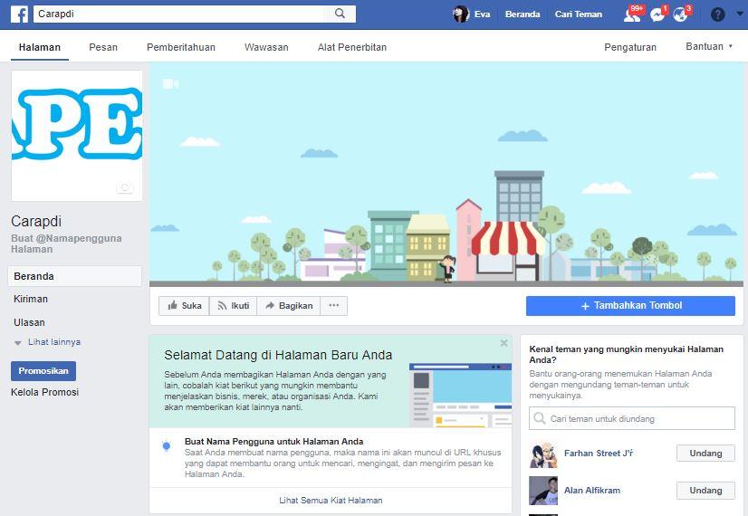 cara daftar akun facebook bisnis carapedi id