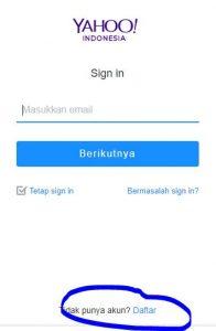 Cara Buat Email Yahoo