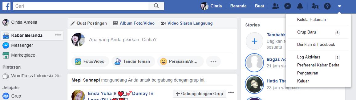 ganti kata sandi facebook1