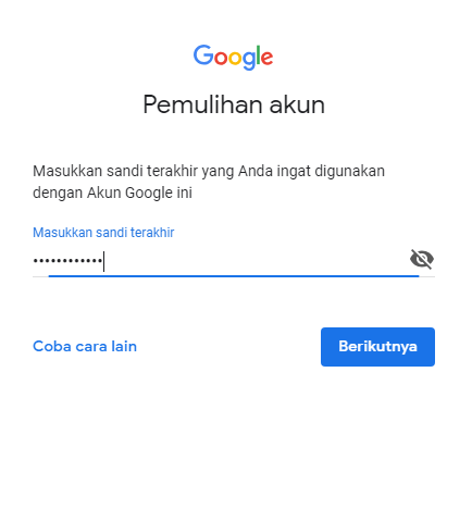 jurus sakti atasi lupa sandi gmail