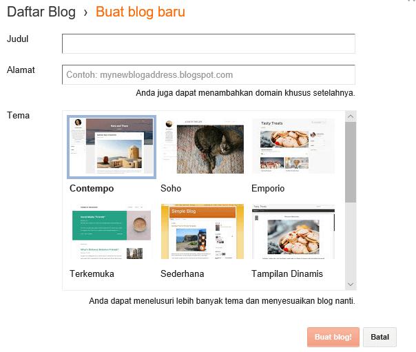 cara membuat blogger