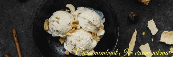 cara membuat ice cream