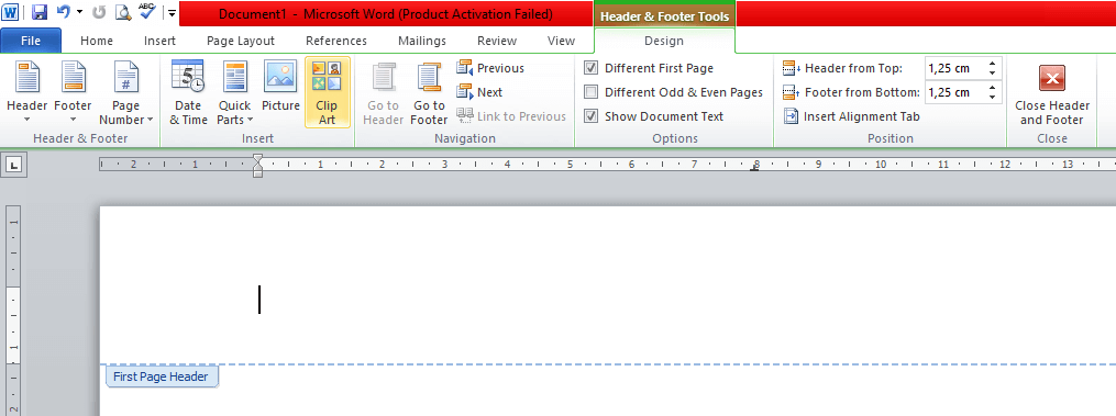 cara membuat kop surat di word