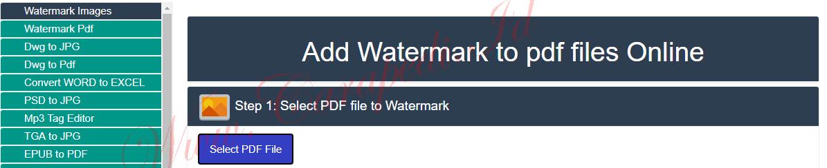 cara membuat watermark