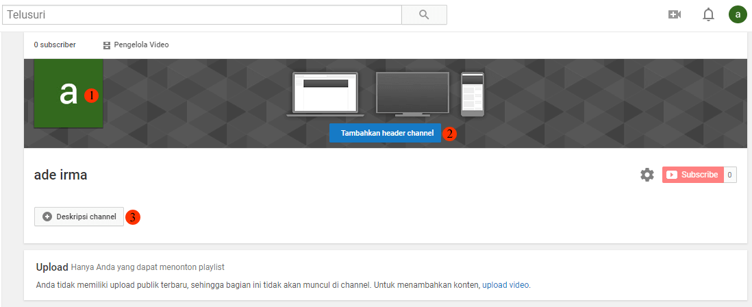 cara membuat chanel youtube