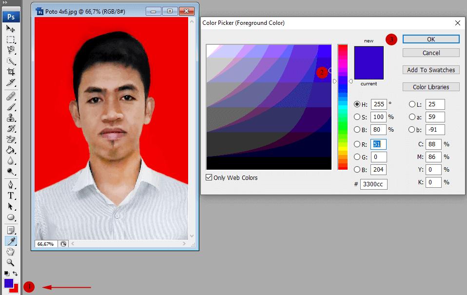 cara membuat foto 3x4