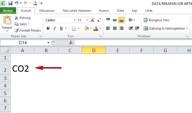cara membuat pangkat di exel
