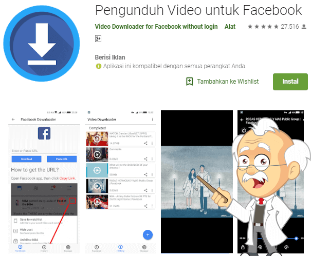 download video facebook android