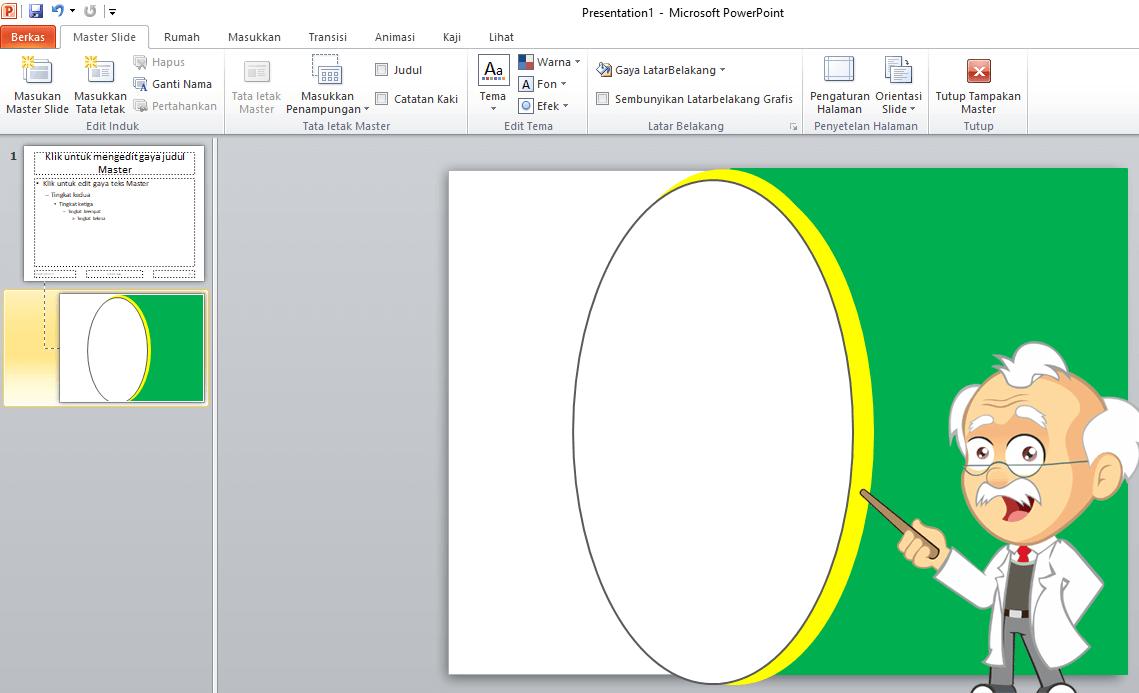 cara membuat template powerpoint
