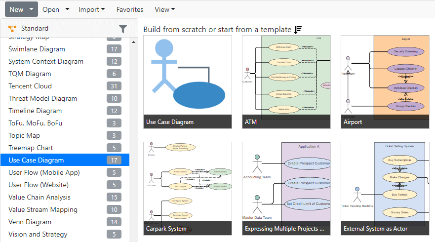 cara membuat use case diagram