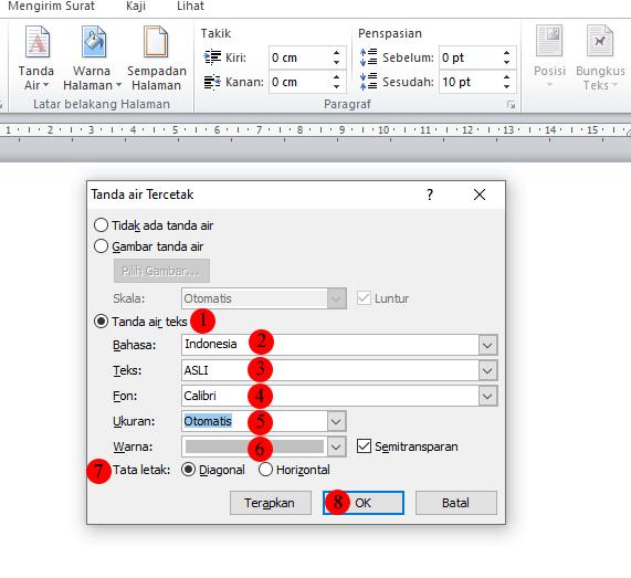 cara membuat background di word