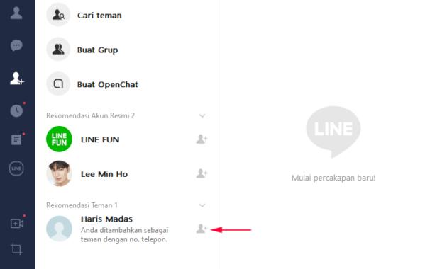 cara add line