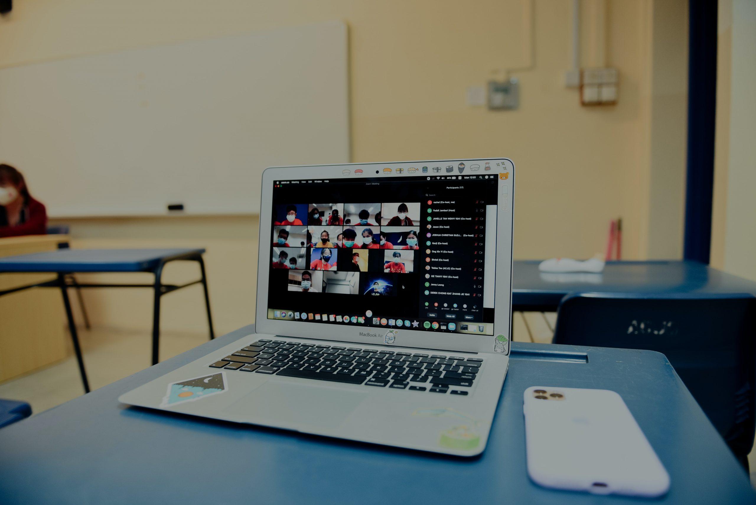 cara mengubah background di google meet